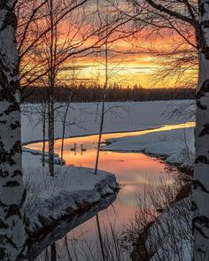 Winter's Tale, Water Lighting, Finland, The Selection, Sunset, Nice, Nature, Inspiration, Outdoor
