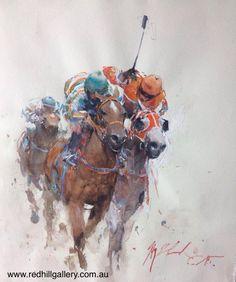 Joseph Zbukvic - The Last Dash Art Gallery, Artist Painting, Joseph Zbukvic, Art Painting, Animal Art, Watercolor Architecture, Art, Watercolor Horse Painting, Watercolour Inspiration