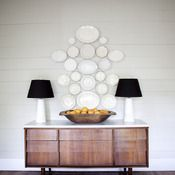 Plates and Lamps, fruit bowl, different sideboard