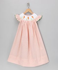 Take a look at this Orange Seahorse Seersucker Dress - Infant, Toddler & Girls by Molly Pop Inc. on #zulily today!