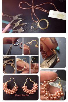 DIY gold fill earrings