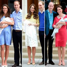 Catherine, Duchess of Cambridge with Prince William with Prince George 2013, Princess Charlotte 2015 and Prince Louis 2018