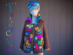 Crochet Top, Crochet Hats, Crochet Ideas, Costume, Crochet Fashion, Crochet Clothes, Knitwear, Fur Coat, Beanie