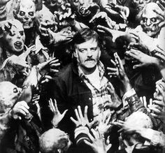 George A. Romero (American zombie film & horror director: Night of the Living Dead [1968], The Crazies / Code Name: Trixie [1973], Dawn of the Dead [1978], Creepshow [1982], Day of the Dead [1985]).