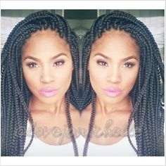 BOX BRAIDS / HAIRSTYLE / HAIR / DOOKIE BRAIDS / PROTECTIVE HAIRSTYLE / POETIC JUSTICE BRAIDS | hair-sublime.com