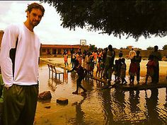 Spanish professional basket player Pau Gasol on a UNICEF field visit in Chad  -nbyay