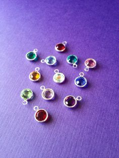 Add On Birthstone Charm Swarovski Crystal Drop Channel for Cuff Skinny Bangle Bracelet Hand Stamped Personalized Gift