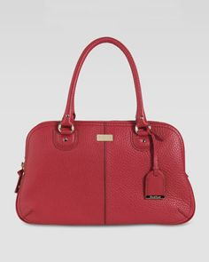 Cole Haan Village East-West Satchel, Cherry - Neiman Marcus