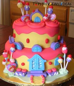 First Birthday Castle Cake