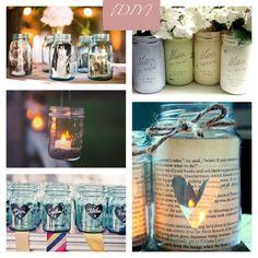 Aproveite os vidros de geleia como lanternas, vasos para flores e até para colocar fotografias da família!
