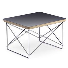 Charles & Ray Eames designed the LTR Side Table as a small, variable side table and even had several different versions of them in the Eames House.