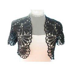 Crochet Shrug/bolero in Black por MumsCraftwork en Etsy, $79.00