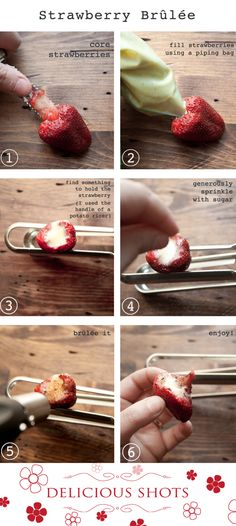 Here is a tutorial on how to do strawberry brulee.