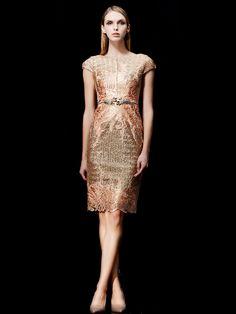 e87a656a6eff Sequin Mother Of The Bride Dresses Gold Knee Length Sheath Cocktail Dress -  Milanoo.com