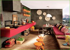 Varanda Gourmet Móveis e Decoração | Decoração e construção