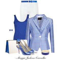 """Royal Blue & White"" by maggie-jackson-carvalho on Polyvore"