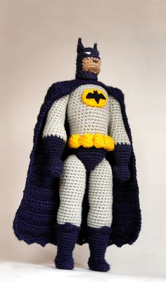 Batman CROCHET PATTERN / Batman amigurumi pattern /  tutorial for Batman doll  / amigurumi design for comic superhero / gift for boys