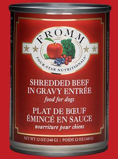 Fromm - Four Star Shredded Beef in Gravy Entree - Wet Dog Food - 12 oz