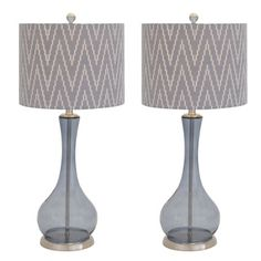 Casa Cortes Glass Zigzag Chevron Handcrafted Table Lamp (Set of 2) - Overstock™ Shopping - Great Deals on Casa Cortes Table Lamps