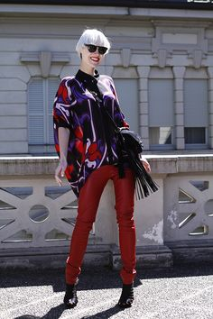 Linda Tol at Tessabit Como in Gucci and Saint Laurent