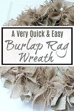 homedecor diy Learn how to make your very own gorgeous and full burlap rag wreath like this one, with this very easy-to- tutorial! This is a classic wreath that you will fit just about anywhere in your home, and be used for any season! Easy Crafts, Diy And Crafts, Easy Diy, Diy Wreath, Rag Wreaths, Burlap Wreaths, Wreath Ideas, Door Wreaths, Fabric Wreath