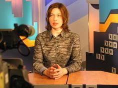 A television news host in Russia. Gender Issues, The Voice, Russia, Youth, News, Women, Women's, Young Adults, Teenagers