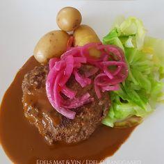 Edels Mat & Vin: Viltburger med nykål og grønn peppersaus Steak, Steaks