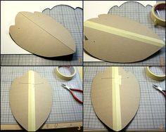 Tutorial for cardboard necklace hanger-1 by Kotomicreations, via Flickr