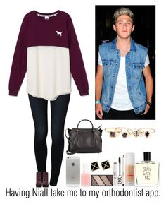 """""""Having Niall take me to my orthodontist appointment"""" by emmaluvsonedirection ❤ liked on Polyvore featuring Noisy May, Mary Kay, Victoria's Secret PINK, Steve Madden, Nina Ricci, Benefit, Topshop, Essie, Liaison De Parfum and Sole Society"""