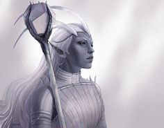 A place to share and appreciate fantasy and sci-fi art featuring reasonably portrayed women. Critical Role Campaign 2, Critical Role Fan Art, Dnd Characters, Fantasy Characters, Character Concept, Character Art, Character Ideas, Half Drow, Elder Scrolls Skyrim