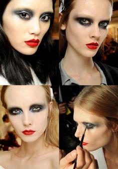 Givenchy Spring '10, Runway Makeup, tutorial.