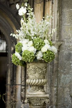 Beautiful church flowers .