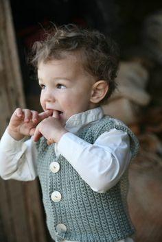 Boy's Vest  Eco Friendly  Hand Knit  Photo Prop  Easter by joretta, $56.00