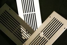 x Silver Steel Modern Linear Floor Air Return Grille x Overall; No Holes)