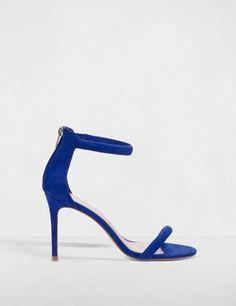 Sandales à brides en simili daim