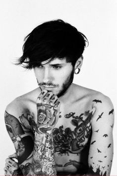 1000 images about men with tattoos on pinterest smoking for Topless tattoo girls