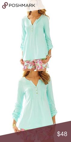 Lilly Pulitzer Blouse Looks BRAND NEW! Really XXS but fits like a XS Lilly Pulitzer Tops