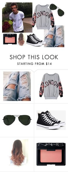 """Going on walk with your bf Harry Styles"" by nialls-wife1 on Polyvore featuring Ray-Ban, Converse and NARS Cosmetics"
