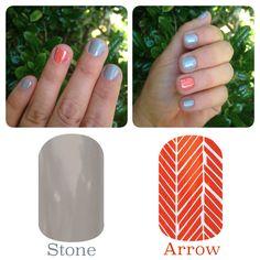 Stone  Arrow Jamberry nail wraps. HOW CUTE!  www.Suzimojock.Jamberrynails.Net