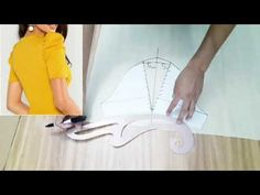 Cómo trazar mangas amplias - YouTube Dress Patterns, Sewing Patterns, Couture, Pattern Fashion, Sewing Tutorials, Abs, Sleeves, Dresses, Embroidery Ideas