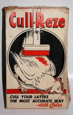 VINTAGE IN ORIGINAL BOX CULL-R-EZE POULTRY HEN CULLING EGG LAYER MARKING SYSTEM  | eBay
