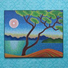 Imprimé coloré contrecollée sur Gravure sur bois par ElspethMcLean