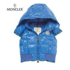 Moncler Kids Sky Blue Hooded Down Vest MDJK7088
