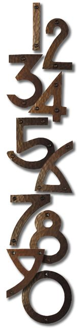 Copper House Numbers from the craftsman touch Craftsman House Numbers, Craftsman Home Exterior, Craftsman Decor, Craftsman Style Homes, Craftsman Bungalows, Craftsman Houses, Craftsman Furniture, Exterior Paint, Exterior Design