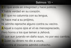 Criticar es fácil, pero mantenerse íntegro trae recompensa. #Promesa Salmo 15:2-5