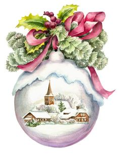 Merry Christmas Wishes : Vintage Christmas card? Beautiful picture and the texture is wonderful. Would love to frame this. Christmas Scenes, Noel Christmas, Pink Christmas, Christmas Pictures, Christmas Crafts, Christmas Decorations, Christmas Ornaments, Christmas Ideas, Christmas Quotes