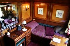 Another view of the same Royal Scotsman stateroom By Train, Train Car, Train Rides, Train Travel, Train Trip, Packing Tips For Travel, Europe Packing, Traveling Europe, Backpacking Europe