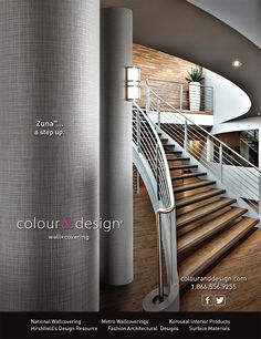 Colour Designs ZunaTM Commercial Wallcovering Advertisement For May 2015 Issue Of Interior Design Magazine