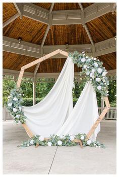 Carmel, Indiana Wedding Photographers Intimate Gazebo Wedding Indianapolis W. Wedding Ceremony Arch, Wedding Poses, Wedding Ideas, Outdoor Wedding Gazebo, Wedding Arches, Budget Wedding, Wedding Trends, Wedding Band, Reception