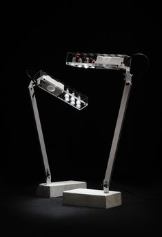 by Saas Instruments Design: Yrjö Kukkapuro & Henrik Enbom Lamp Design, Lighting Design, Custom Pc, Desk Lamp, Lamp Table, Clear Acrylic, Lamp Light, Lights, Painting